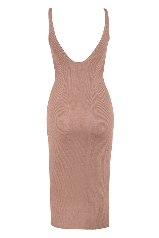 ophir dress in mocha