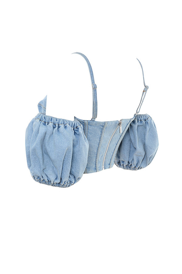 papillon in denim