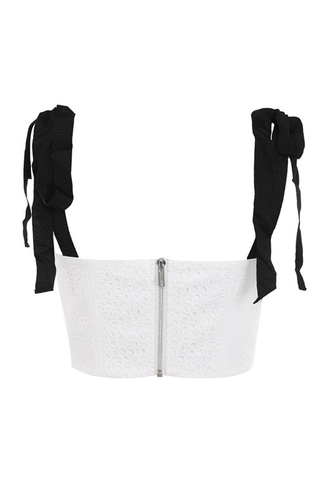 roccoco top in white