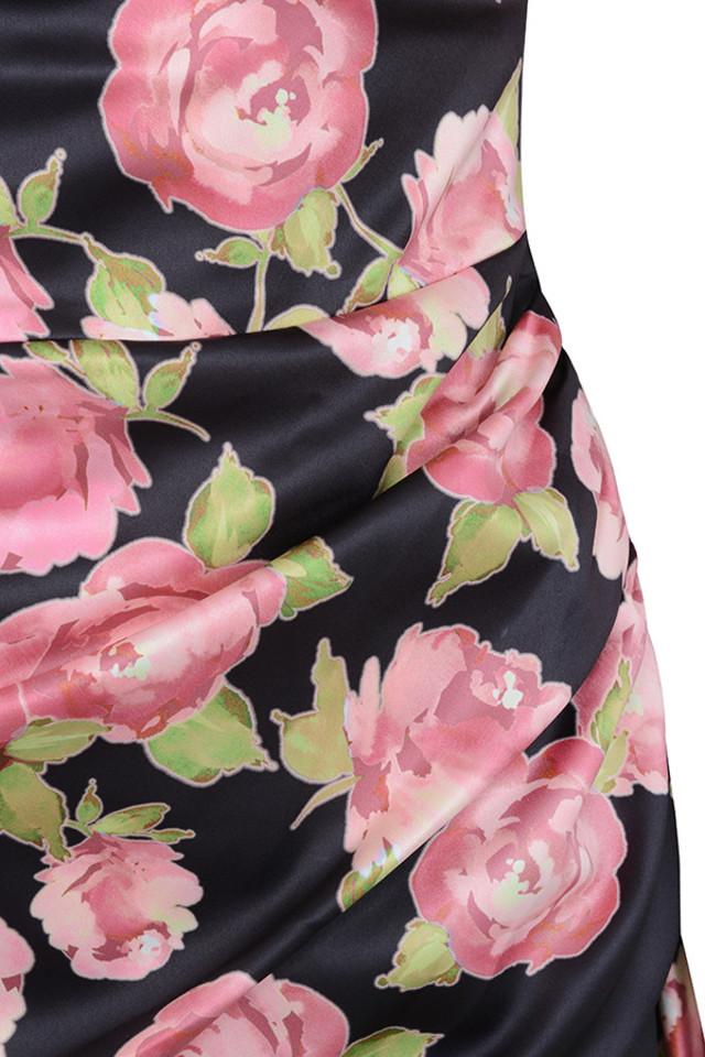 floral amaryllis dress