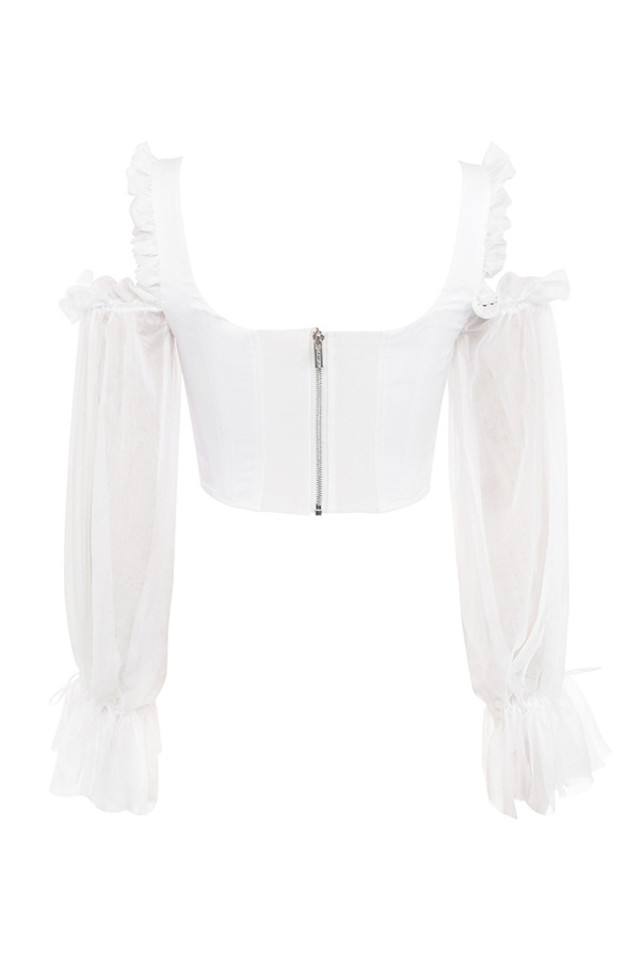claudette top in white