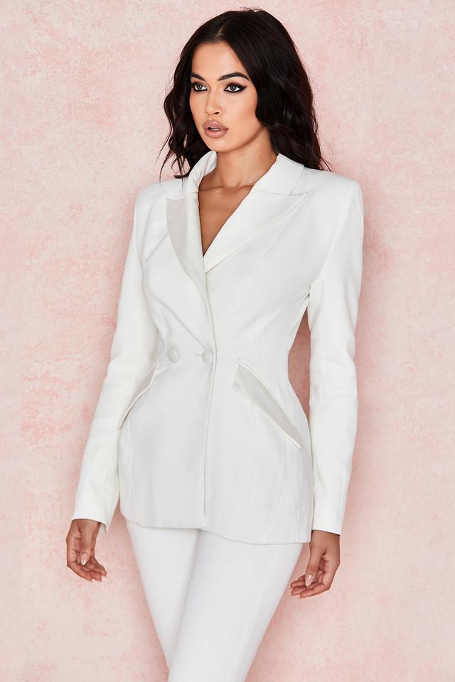 Romana Ivory Hourglass Tux Jacket