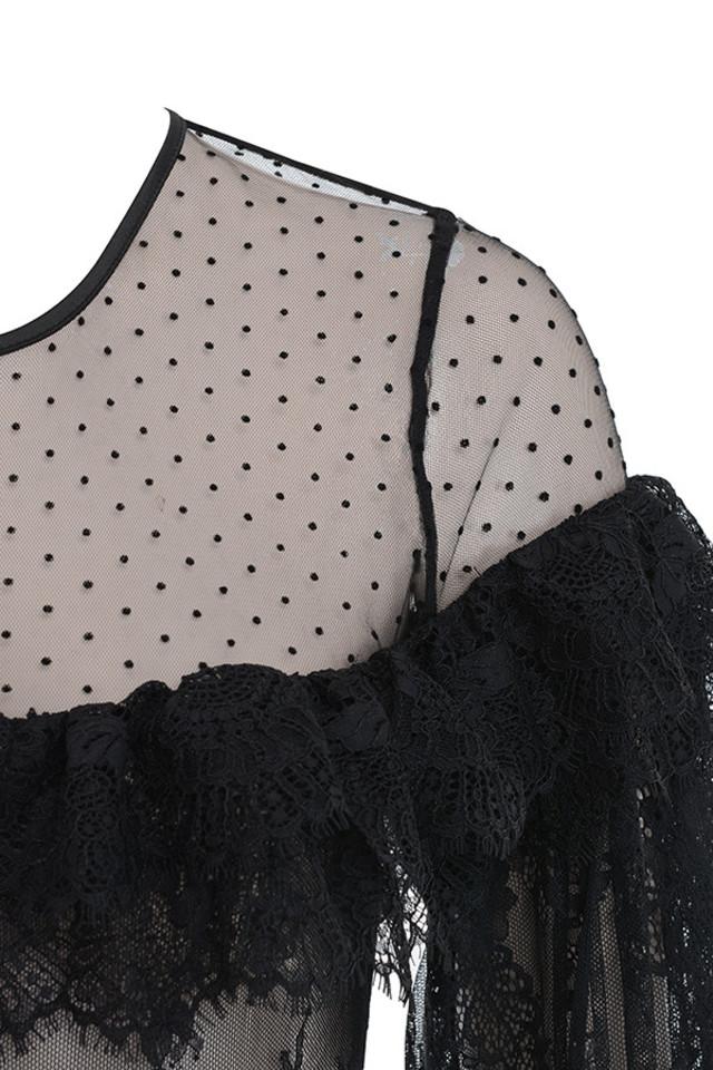 jett bodysuit in black