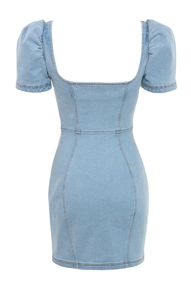 lopera dress in denim