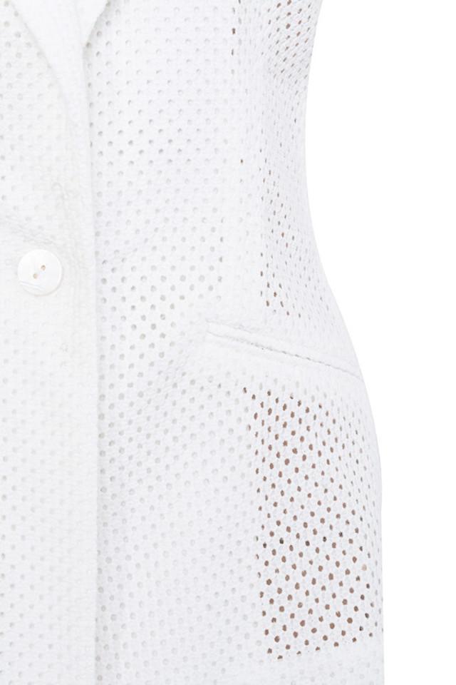 white messiures jacket
