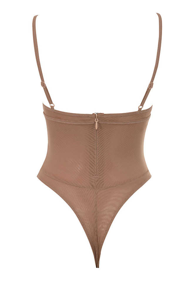 posy bodysuit in taupe