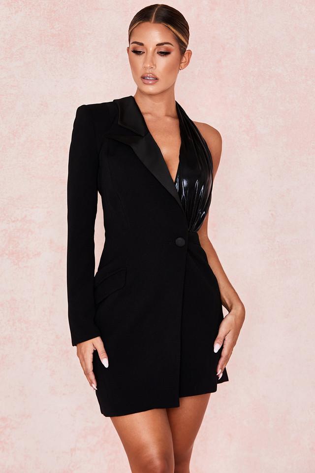 Rae Black One Sleeve Blazer Dress