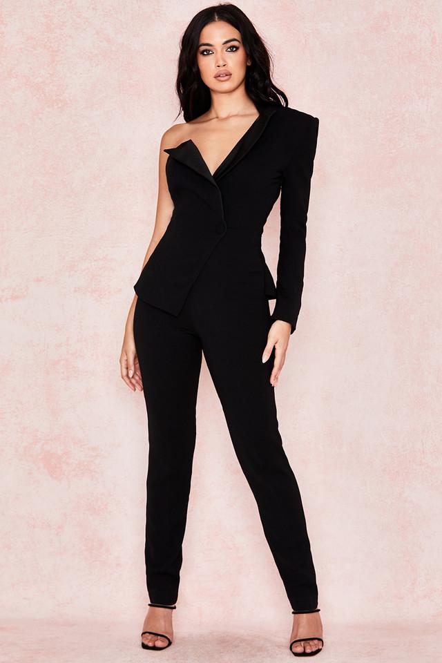 Rosaria Black Tux Jumpsuit