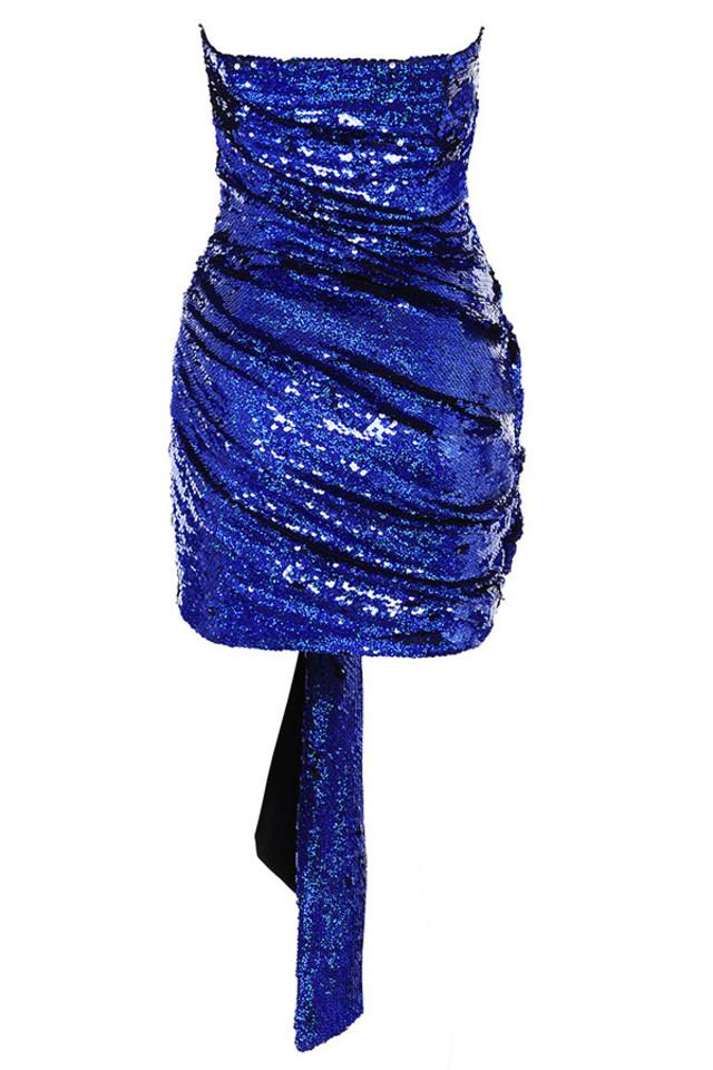 gisele dress in blue