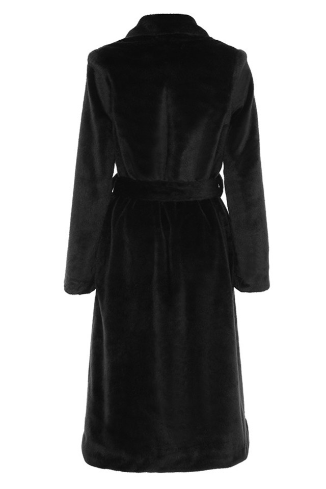 mistral coat in black