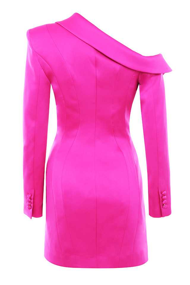 mya dress in fuschia