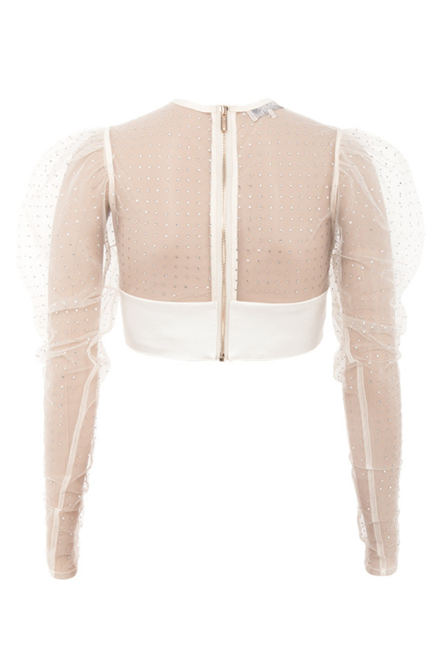 serena top in ivory