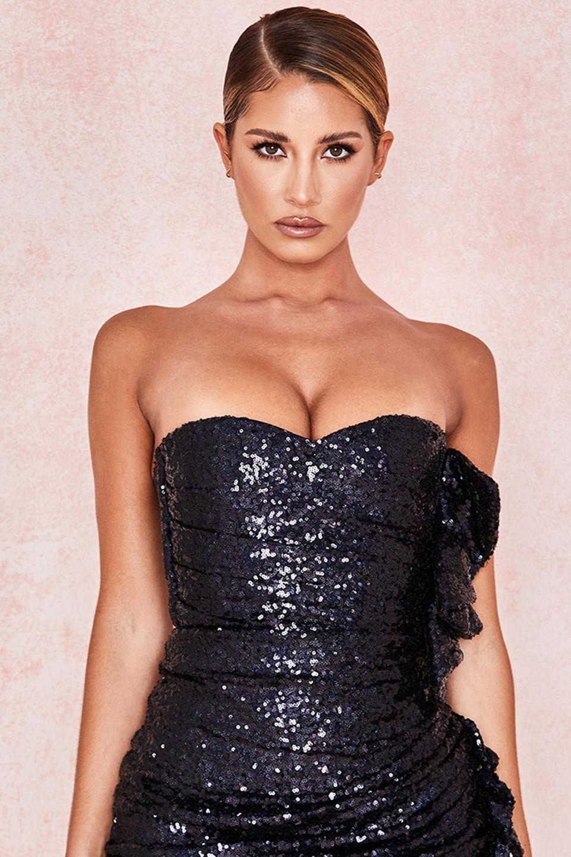 Galliano Black Sequinned Bodysuit