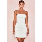Rowan Ivory Satin Crystal Strapless Dress