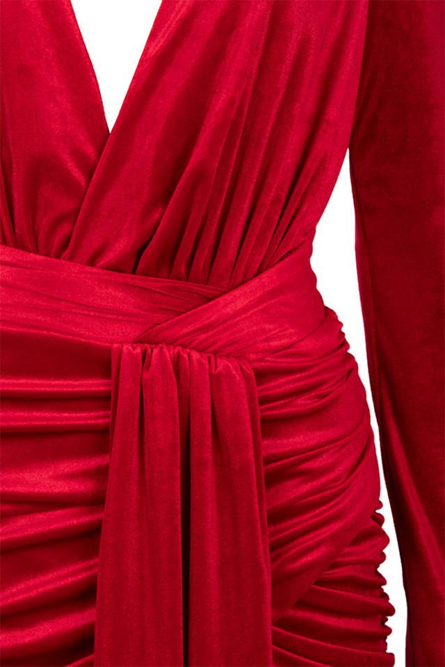 red farrah dress
