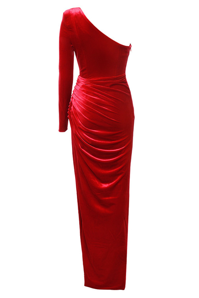 allegra dress in red