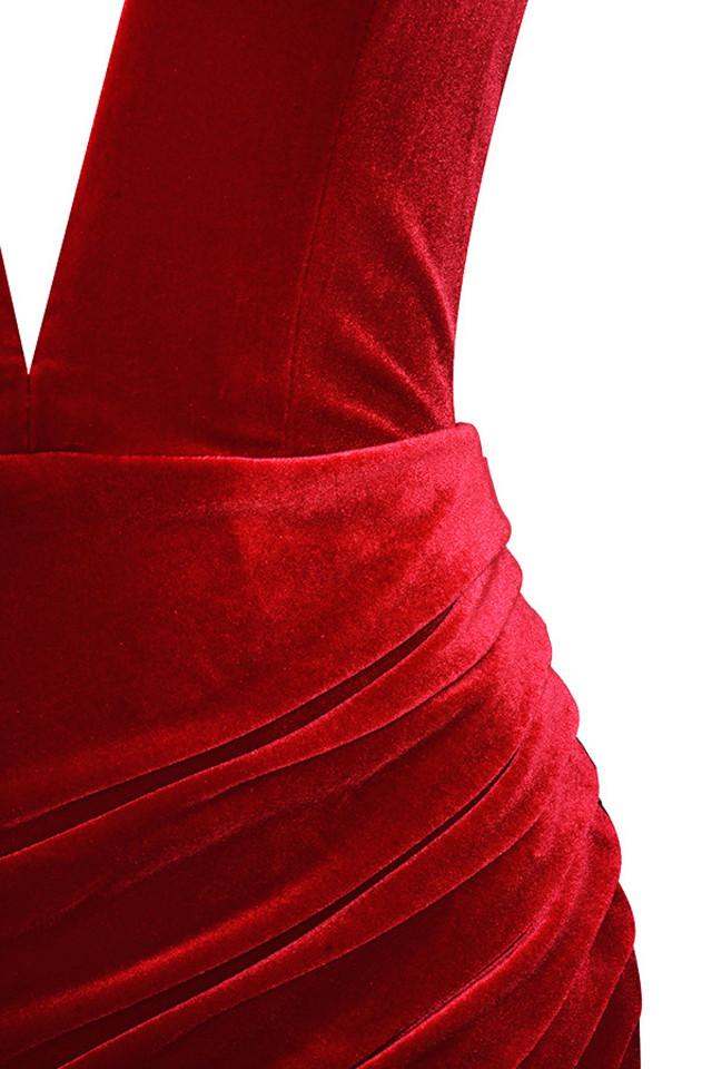 red allegra dress