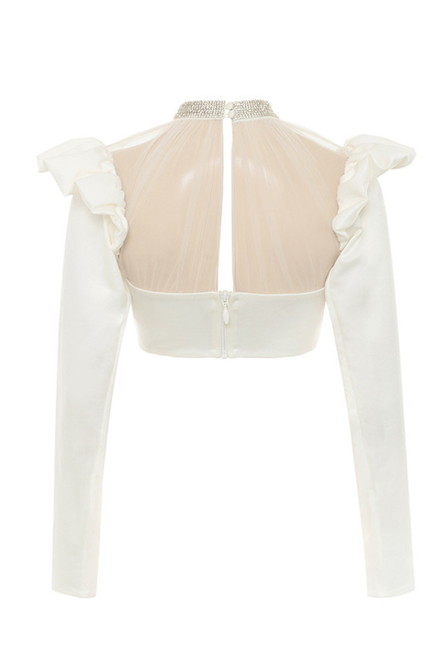 mischa top in ivory