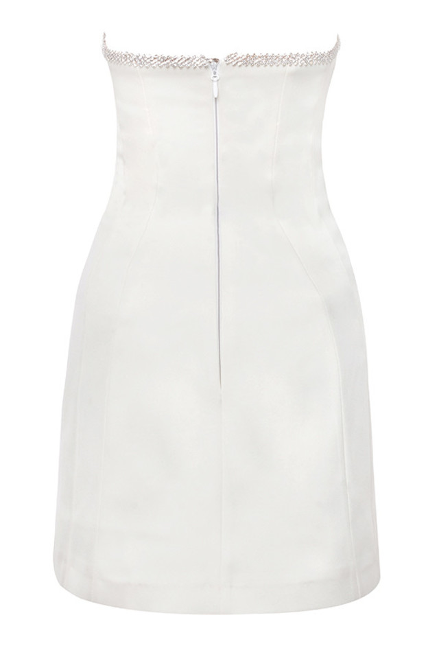 rowan dress in ivory