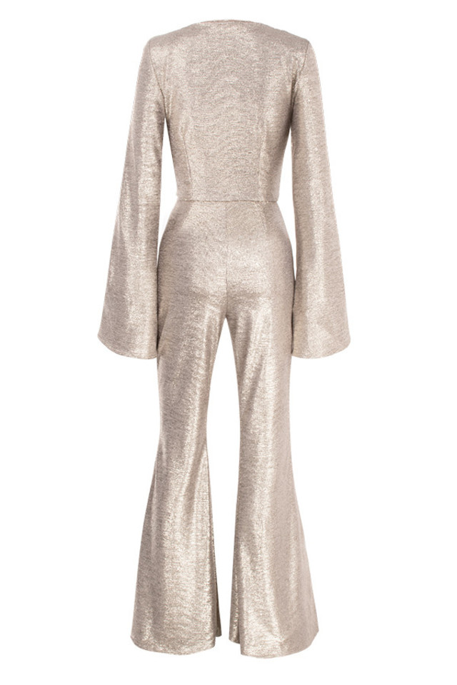 catrin jumpsuit in gold