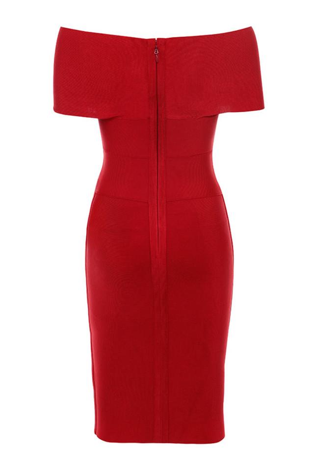 clarissa dress in red