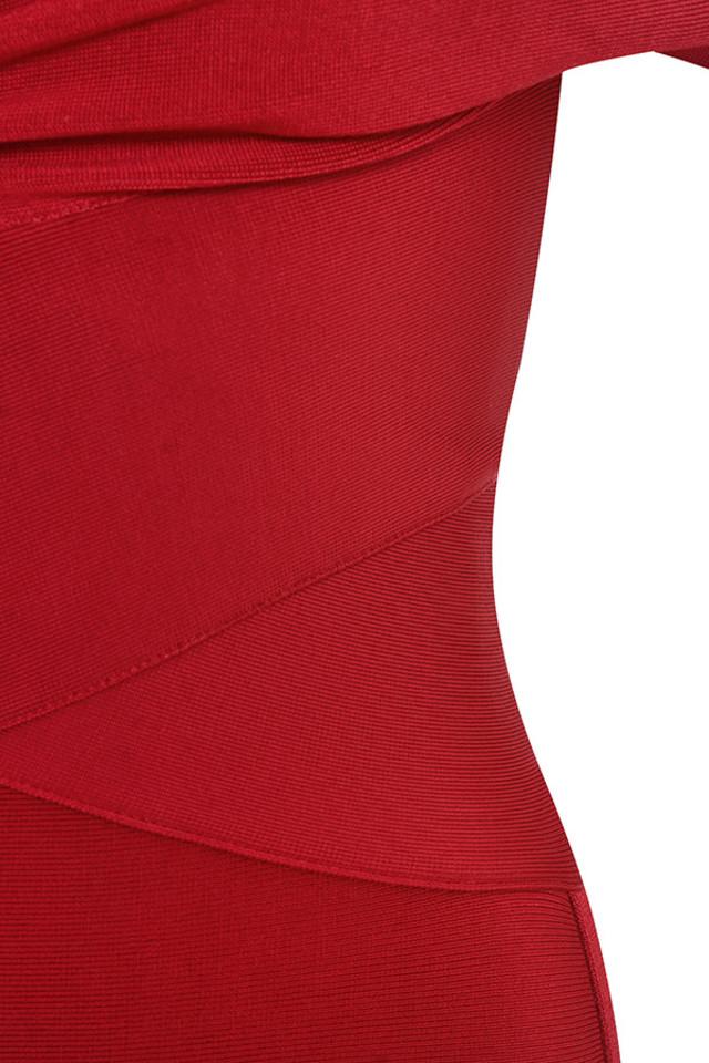 red clarissa dress