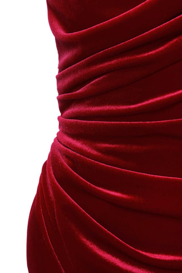 red eliska dress