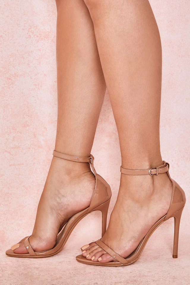Marivel Neutral Textured Strap Sandals