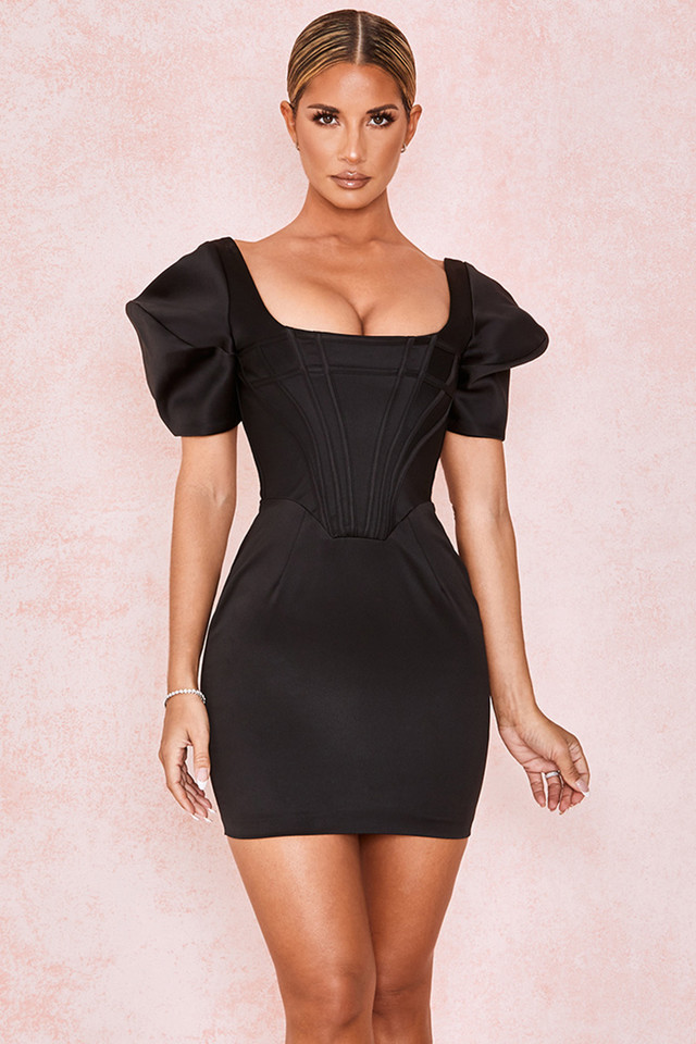 Niladi Black Boned Corset Dress