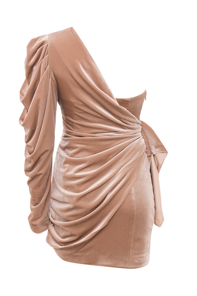 tamara dress in nude