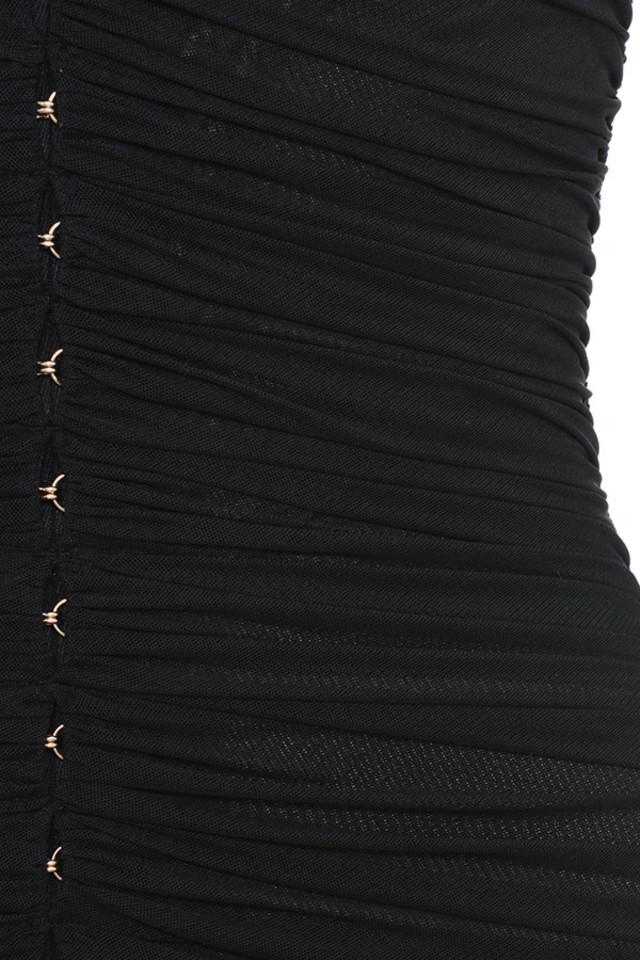 black tavia dress