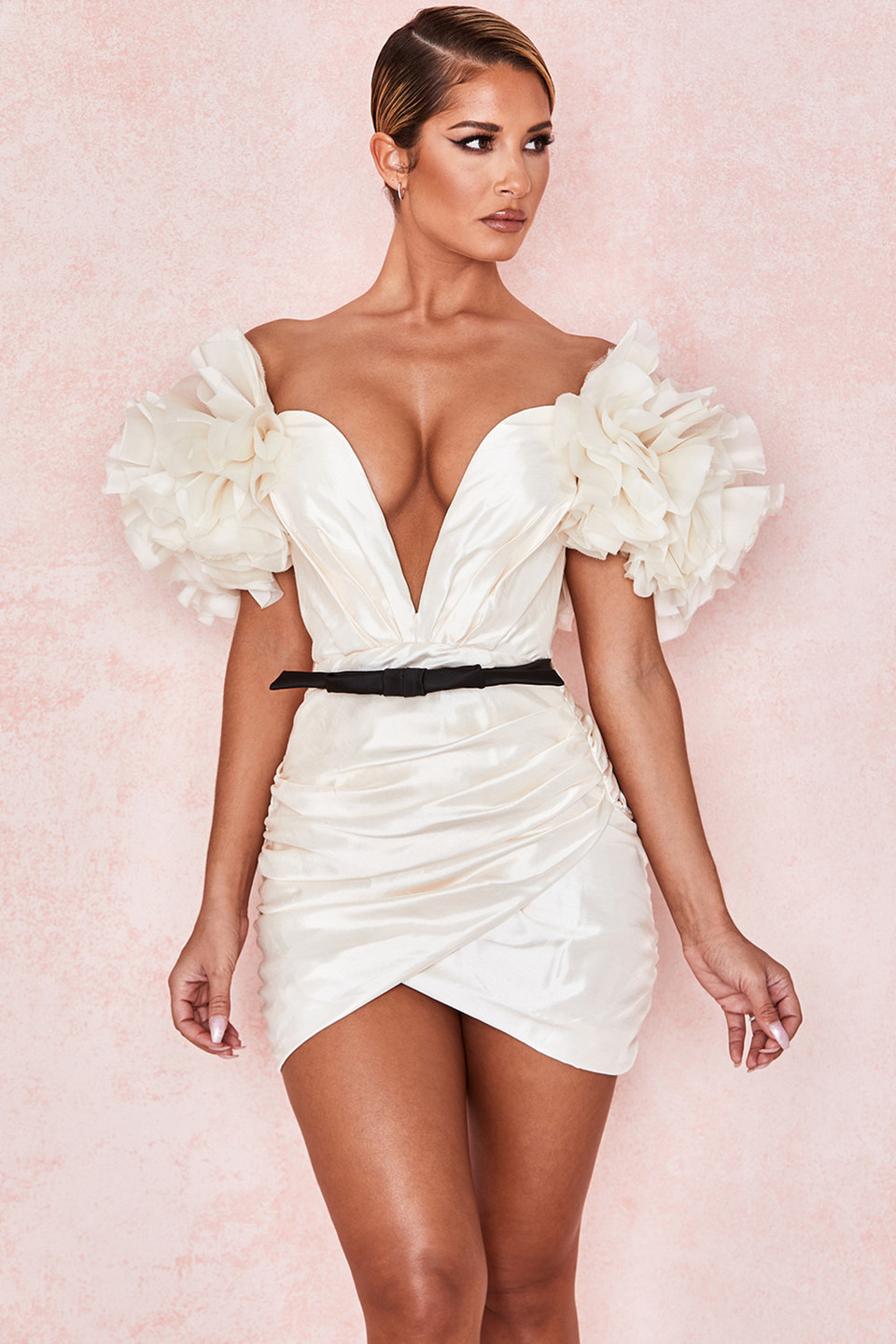 Agatha Ivory Organza Mini Dress