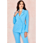 Lara Blue Double Breasted Tailored Blazer