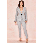 Mason Grey Fitted Tailored Trousers