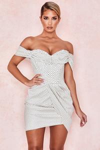 Alessia Polka Dot Corset Dress