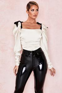 Almaz Ivory Puff Sleeve Bodysuit