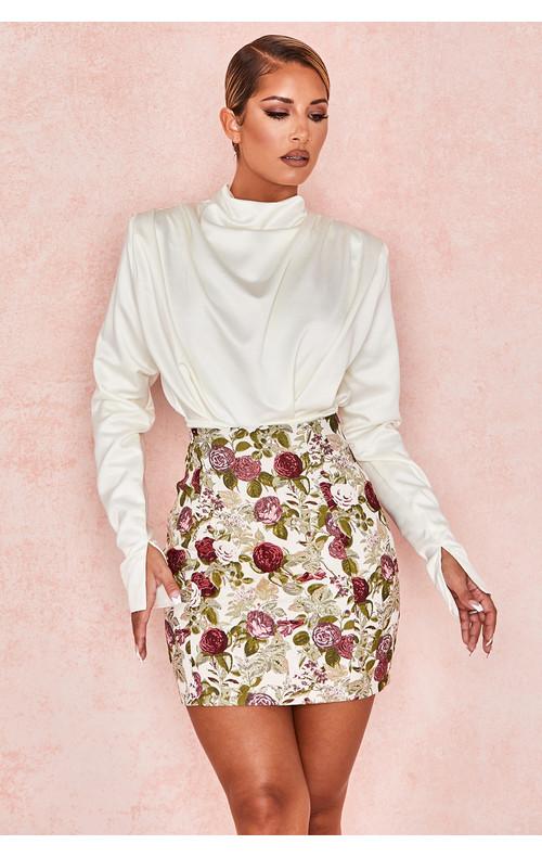 Aurelia Vintage Floral Mini Skirt