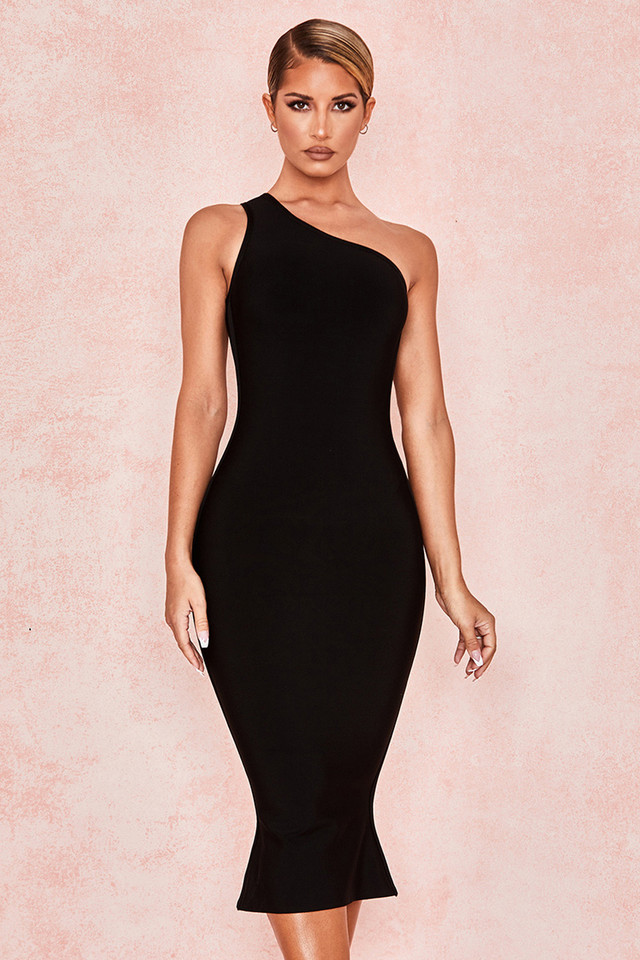 Annette Black Bandage Off Shoulder Dress