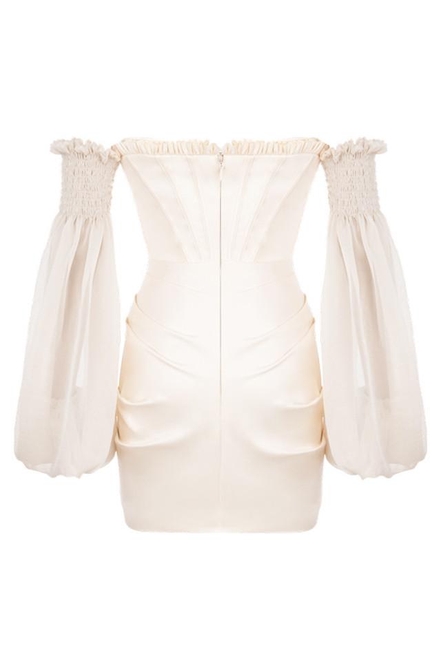 beau dress in ivory