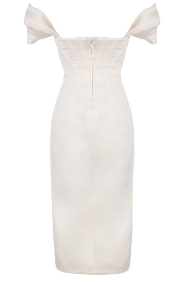 loretta dress in ivory