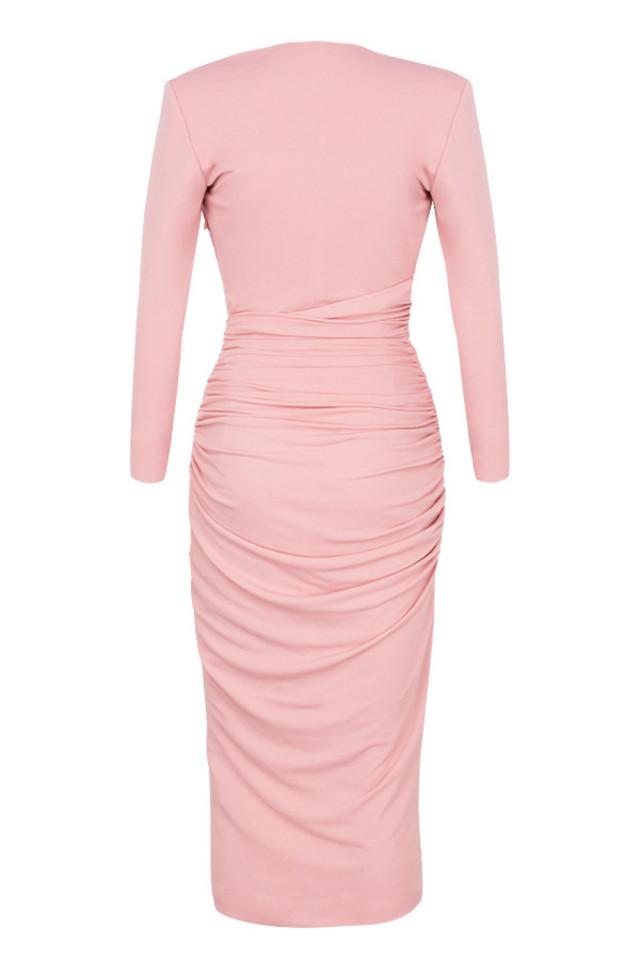 mira dress in blush