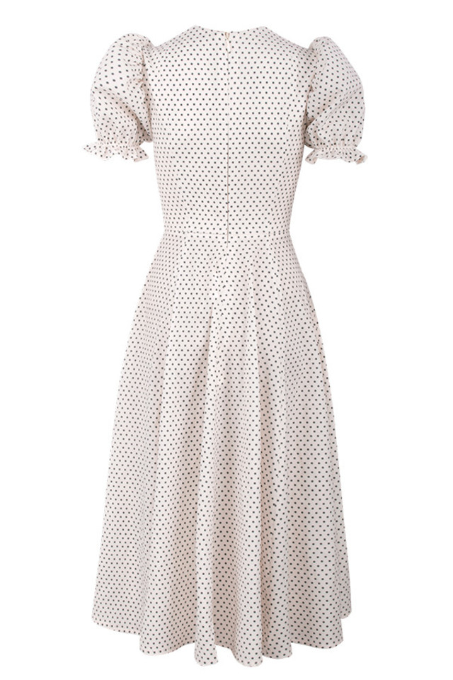 ellery dress in polka