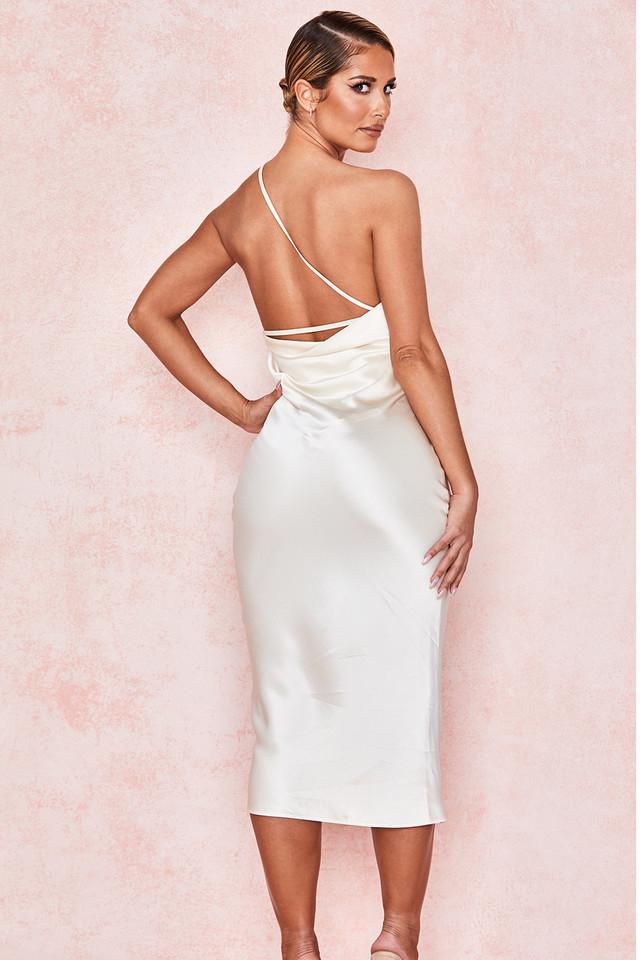 Nikita Ivory Satin One Shoulder Dress