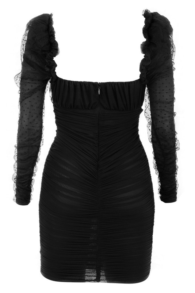 camille dress in black