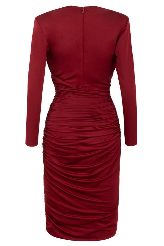 ida dress in wine