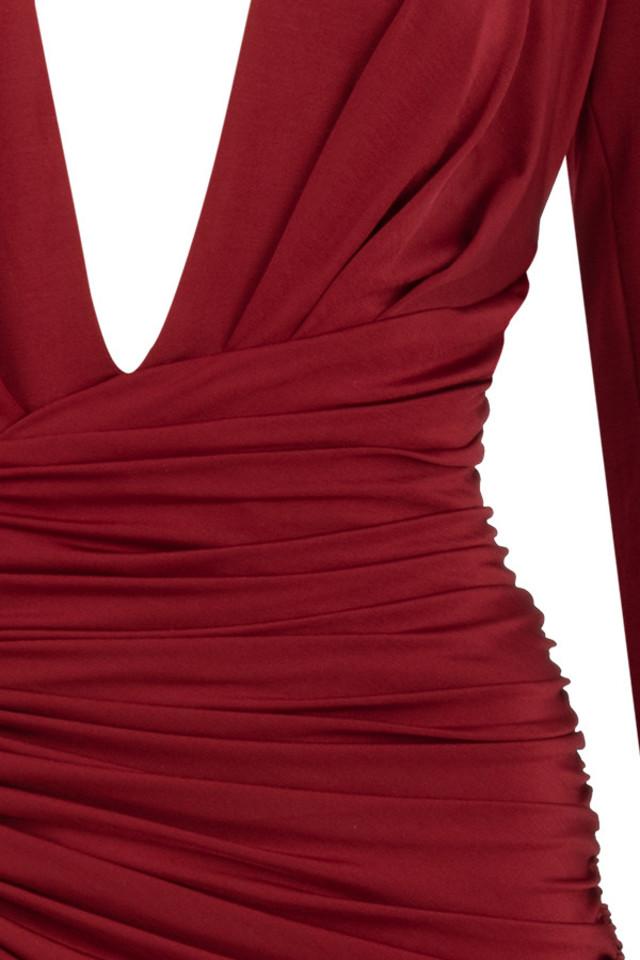 wine ida dress