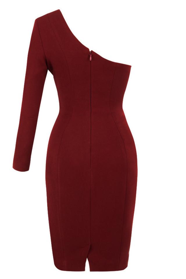 caprice dress in wine