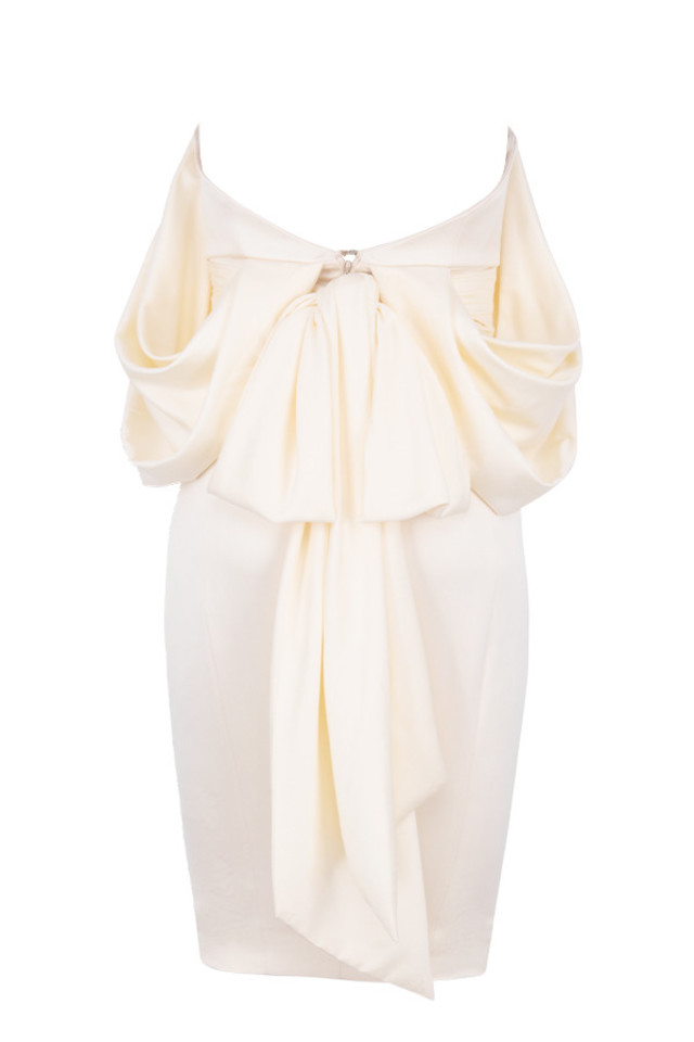aisha dress in ivory
