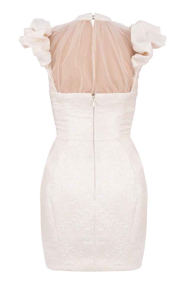 cherelle dress in ivory