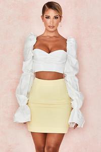 Rosie White Balloon Sleeve Corset Top